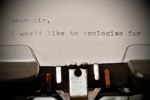 Don't just say sorry